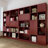 Het moderne Kabinet van het Boek van het ontwerp met het Materiaal van de Melamine