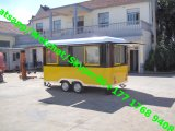 Kundenspezifische 4m volle Edelstahl-Eiscreme-Nahrungsmittelschlußteile, moderne mobile Nahrungsmittelkarre