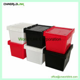 Household Use Small Scale Plastic Storage Standing Nestable Bin
