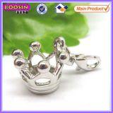 principessa Crown Pendant del metallo di figura 3D per il braccialetto #11935