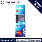 1.5V China Fabrik-Zink-Kohlenstoff-Batterie-Großhandelspreis (R6-AA 20PCS)