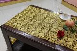 mantel largo del ganchillo del tapetito del cordón del vinilo del PVC del oro de los 50cm*20m en el rodillo (JFBD019)