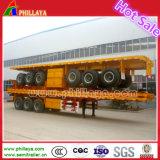 Faible prix 3 essieux transport de conteneurs semi-remorque à plat 40FT pour la vente