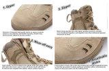 Fori Swat Quick Release Fastener con 7-pollici Desert Boots, stivali da combattimento, stivali Assault, stivali militari, stivali dell'esercito, stivali tattici