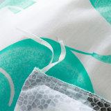 200 Tc impressos de 3 peças algodão edredão de cama da Tampa