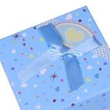 Пользовательский цвет печать картон одно окно просмотра с красивым Bowknot, экологически чистые материалы смотреть в салоне, подарочной упаковки .