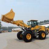 De Machine van de bouw Lader van het Wiel van 5 Ton de Chinese voor Verkoop