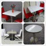 높은 최고 대리석 테이블 및 의자 의 둥근 단단한 지상 커피용 탁자