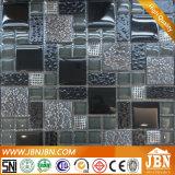 Resina nera con il mosaico dei fiori, del vetro piano convesso e (M855084)