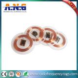 Passivo de PVC 125kHz Clear Tag de RFID com fita adesiva de 3m