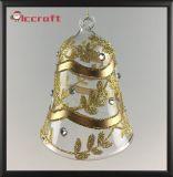 La navidad bola de cristal con color oro (LCP-A-0003)