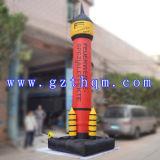 Giant Publicidad al aire libre modelo de cohete inflable / PVC Hermoso modelo de cohete inflable