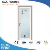 Дверь Casement белого цвета алюминиевая для ванной комнаты/туалета