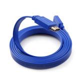유연한 편평한 HDMI 케이블 PVC 주조 유형