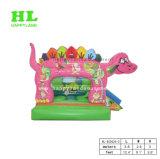 (Purpur) reizender Dinosaurier-aufblasbares kombiniertes für Kinder
