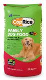Flexible en plastique fond plat de la cornière de chien de travail sac de l'emballage alimentaire
