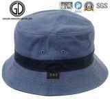 Famosa Balde Azul de microfibra casual de Lazer Hat com Correias Médio