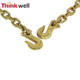 La vendita calda ha forgiato l'ancoraggio Chain galvanizzato giallo con l'anello di delta