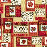 Het goud Geplateerde Af:drukken van de Was Hollandais/Afrikaanse Katoenen Stof/de Gouden Ontwerpen van Kerstmis van de Stof van het Af:drukken van de Was