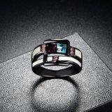 De antieke Ring van de Vinger van de Manier van de Toebehoren van de Kleding van het Plateren van het Kanon Zwarte voor Vrouw