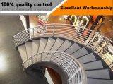 Escadaria espiral de vidro do aço inoxidável de projeto moderno para o sótão