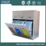 Acero inoxidable personalizada Pública 3 Recipiente de almacenamiento de residuos de reciclaje Papelera