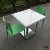 Superfície sólida de acrílico superior em mármore mesa de jantar e cadeira definido