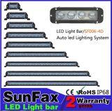 Luz de LED de fileira única luz LED das luzes de condução de automóvel Bar