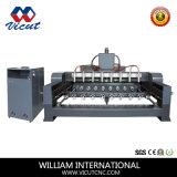 Grabador de madera del trabajo del ranurador del ranurador de madera principal multi del CNC (VCT-2512R-8H)