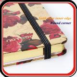 Größen-Anmerkungs-Buch des kundenspezifisches UVdrucken-metallisches Papier-A5