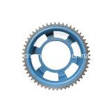 Kundenspezifische Nylonsporn-Gang-untätigere Kettenrad-Rolltreppe-Rad-Antriebsscheibe mit Peilungen