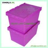 100% virgen PP el reciclaje de material de la tapa de plástico cajas móviles bloqueable