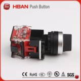 HbsoDy 22mmの1no1nc 2位置のプラスチックセレクタスイッチ