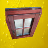 Madeira de carvalho branco sólido na janela de madeira de alumínio