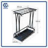 Crear el estante de visualización para requisitos particulares del paraguas del suelo del alambre de metal para la fábrica