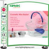 Wire Mesh Metal Shopping Basket para loja de cosméticos (HBE-B-23)
