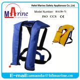 Голубая оптовая продажа спасательного жилета цвета 150n раздувная