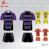 Rugby Jersey di stampa di Digitahi di Strappare-Protezione degli abiti sportivi di disegno di modo di Healong