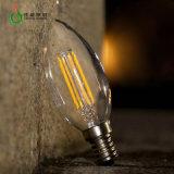 Indicatore luminoso della candela del filamento dell'indicatore luminoso di lampadina di C35 3W E27 B22 LED