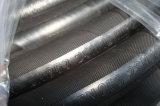 Le fil d'acier a tressé le boyau hydraulique couvert par caoutchouc renforcé en caoutchouc du boyau SAE100 R2at/
