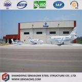 Almacén estructural de acero de la vertiente del hangar del helicóptero de la calidad con el panel de la fibra de vidrio