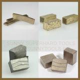 De Segmenten van de diamant voor de Rand of het In blokken snijden van de Steen