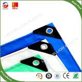 China de plástico de color verde y azul PE cubiertas de lona
