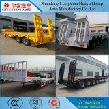 3/4 Aanhangwagen van de Vrachtwagen van het Bed van de As Lage Semi met verwijdt Steun