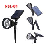 Nsl-04 jardín solar césped luz CON LÁMPARA DE LED