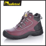 Zapatos de cuero compuestos de zapatos de seguridad del dedo del pie de la marca de fábrica libre del metal de China para los hombres