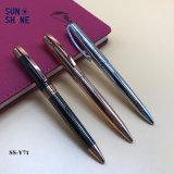 Chapado en alta calidad Metal Ball Pen pluma de regalo pesado