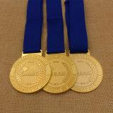 Alta medalla Polished de la corrida del maratón de los deportes del karate de la concesión de la escuela del metal del medallón