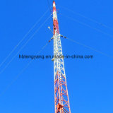 100m Guy Wire Triangular Round Steel Bar Communication Tower