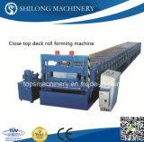 Aprovado CE Closed Top metal Piso rolo deck dá forma à máquina